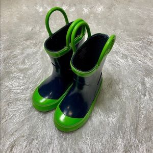 Northside 6 Navy Blue Rubber Rain Boots